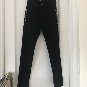 Black studded high waisted pants